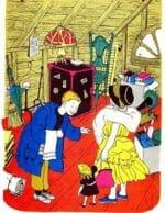 Мадам с кроликом в поисках столовых приборов. Головоломка