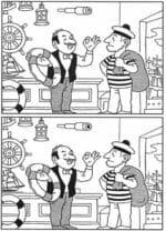 Головоломка про отличия на картинке с моряком